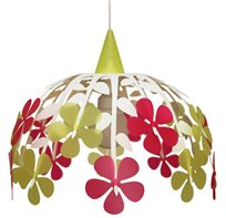 FLOWER BUNCH ceiling light IVORY LIME AND PINK
