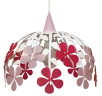 FLOWER BUNCH ceiling light IVORY RASPBERRY and PINK