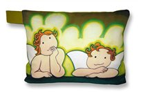 LIME LITTLE ANGELS CUSHION
