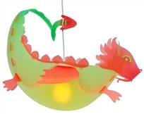 DRAGON ceiling light LIME and RED