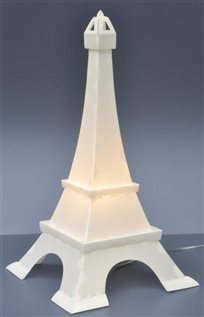 EIFFEL TOWER deco lamp PEARLY WHITE