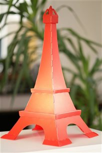 EIFFEL TOWER deco lamp RED