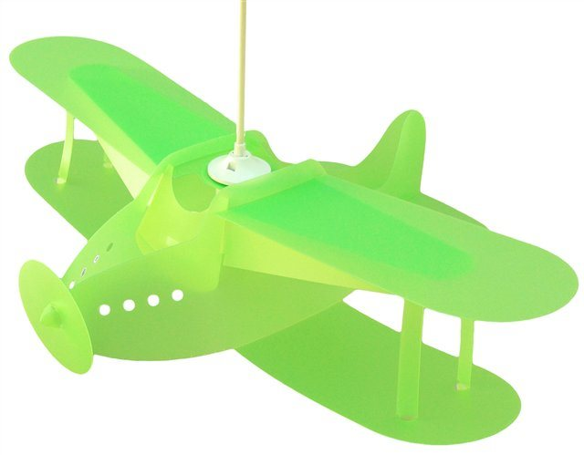 lampe suspension enfant avion anis