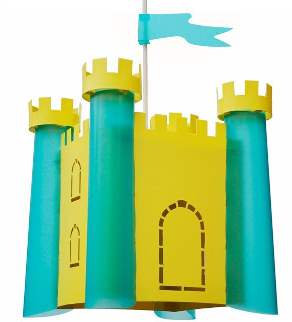 CASTLE ceiling light BROOM and TURQUOISE