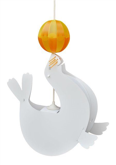 SEA-LION ceiling light WHITE and ORANGE Balloon