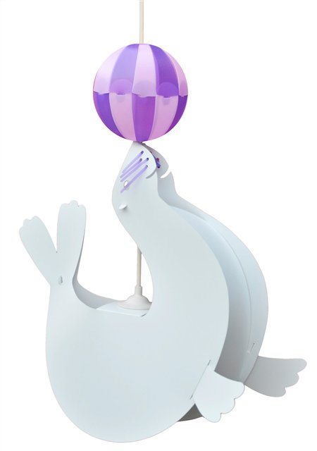 SEA-LION ceiling light WHITE and PURPLE Balloon