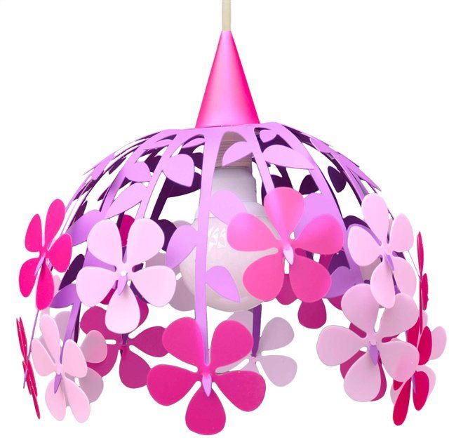 FLOWER BUNCH ceiling light PINK and PURPLE