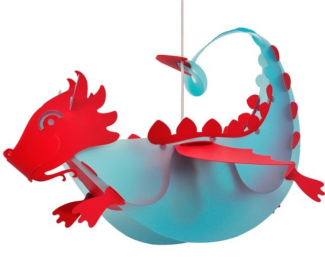 DRAGON ceiling light BLUE and RED