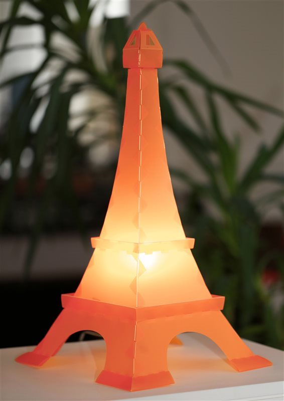 Kid's bedroom bedside lamp EIFFEL TOWER ORANGE